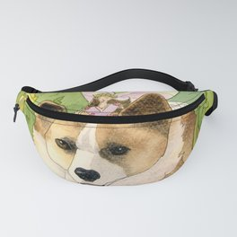 The Faerie and the Welsh Corgi Fanny Pack