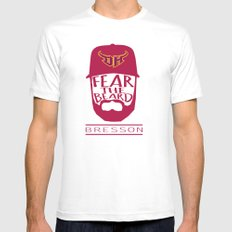 Fear the Beard White Mens Fitted Tee MEDIUM