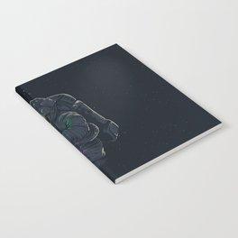 astronaut jellyfish space digital art Notebook