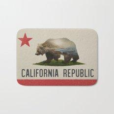 California Grizzly Bear Flag Bath Mat
