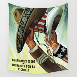 Americans All - Let's Fight for Victory Wall Tapestry