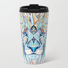 Lion Artwork Metal Travel Mug