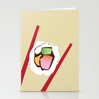 sushi Stationery Cards featuring Sushi by Nathan Rhoads