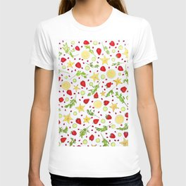 Fruits and vegetables pattern (6) T-shirt