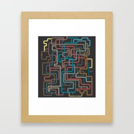 In the deep (pipes) Framed Art Print