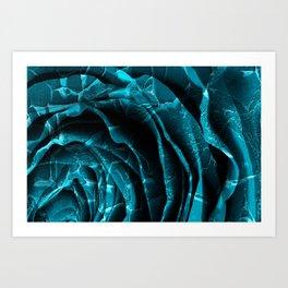 Nuclear Winter Rose Art Print