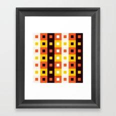 Stripes & Squares Framed Art Print