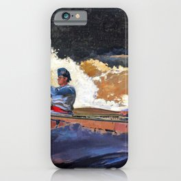 Winslow Homer1 - Shooting The Rapids, Saguenay River - Digital Remastered Edition iPhone Case