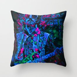 Cold Clapton, Light Layla Throw Pillow