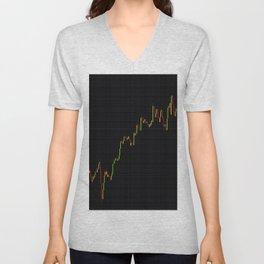 Japanese Candlestick Forex Stock Diagram Unisex V-Neck