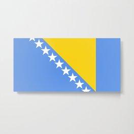 Flag of Bosnia and Herzegovina Metal Print