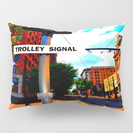 Main Street Trolley Pillow Sham