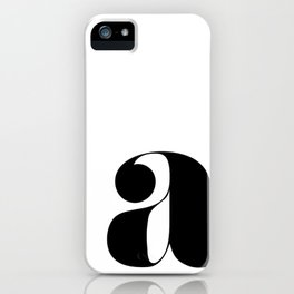 """letter """"a"""" iPhone Case"""