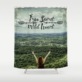 Free Spirit - Wild Heart Shower Curtain