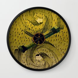 Opposite Directions Wall Clock
