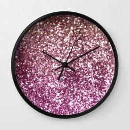 Sparkling BLACKBERRY CHAMPAGNE Lady Glitter #1 #decor #art #society6 Wall Clock