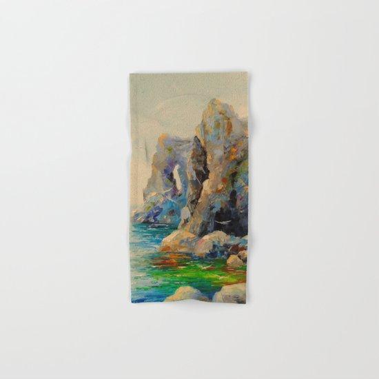 Rocks on the beach Hand & Bath Towel