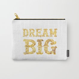 Dream Big Golden Aztec Lettering Carry-All Pouch
