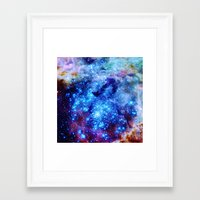 galaxy Framed Art Prints featuring galaxy by 2sweet4words Designs