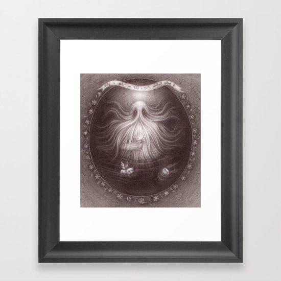 Friendly Yeti Framed Art Print