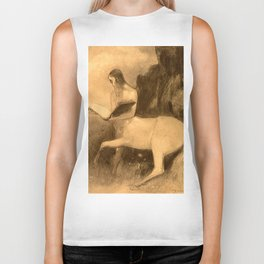 "Odilon Redon ""Centaur reading"" Biker Tank"