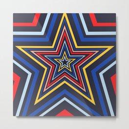 Stars Blue Metal Print