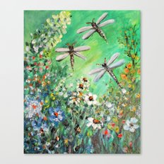 Dragonfly Summer Canvas Print