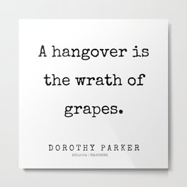 55    | 200221 | Dorothy Parker Quotes Metal Print