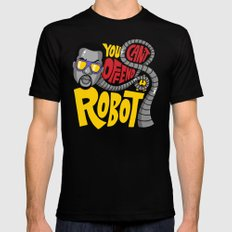 You Can't Offend a Robot Black Mens Fitted Tee SMALL