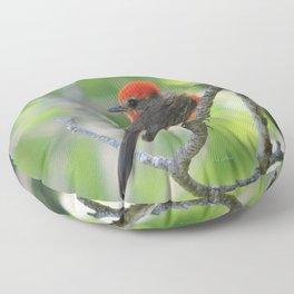 Vermilion Flycatcher Floor Pillow