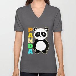 Panda Colorful Cute Panda Bear Giant Panda Unisex V-Neck