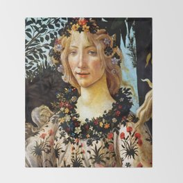 "Sandro Botticelli ""Primavera"" Flora Throw Blanket"