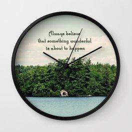 Something Wonderful Wall Clock