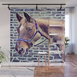 Brown Horse with Harness Wall Mural
