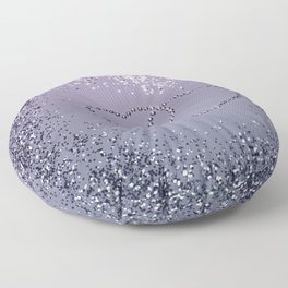 Lavender Navy Blue Glitter Hearts #1 (Faux Glitter) #shiny #decor #art #society6 Floor Pillow