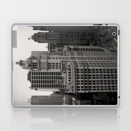 Wrigley Building Chicago Black and White Photo Laptop & iPad Skin