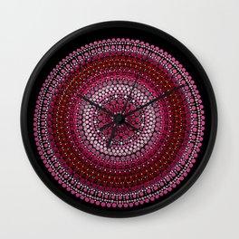 All Pink Mandala Wall Clock