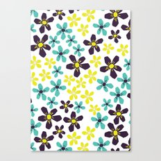 Yellow and Blue Flower Canvas Print