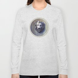 Lion Head White Marble Long Sleeve T-shirt