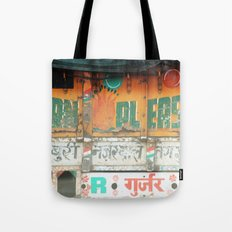 horn please! india truck sign Tote Bag