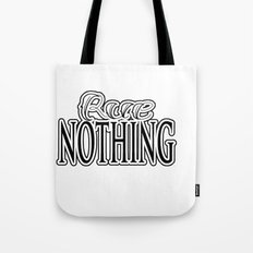 Rue Nothing Original Logo White and Black 2 Tote Bag
