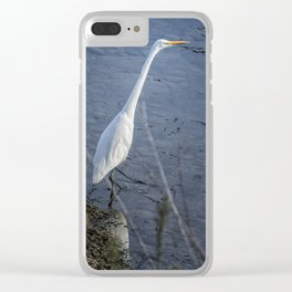 Great Egret at Delta Ponds, No. 2 Clear iPhone Case