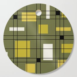 1950's Abstract Art Avocado Green Cutting Board