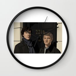 """221B"" Wall Clock"