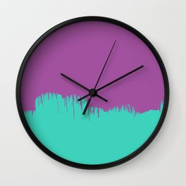 Binary Purple Wall Clock