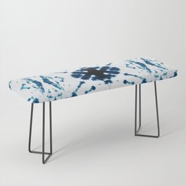 Velvet Shibori Blue Bench