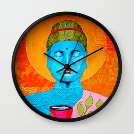 Even the Buddha needs a cuppa Wall Clock