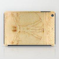 da vinci iPad Cases featuring  Leonardo da Vinci, Vitruvian Man by Mirakyan