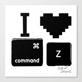 I love Command Z Canvas Print