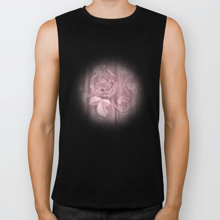 Silk with Roses and Butterflies 2 Biker Tank